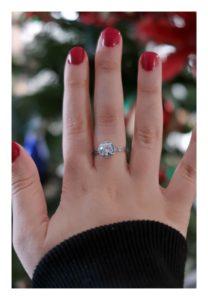 2017 December gift, Pandora ring.