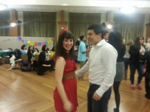 Alejandro and I at Barrio Fiesta at Illinois Wesleyan University. He's trying to teach me how to dance!