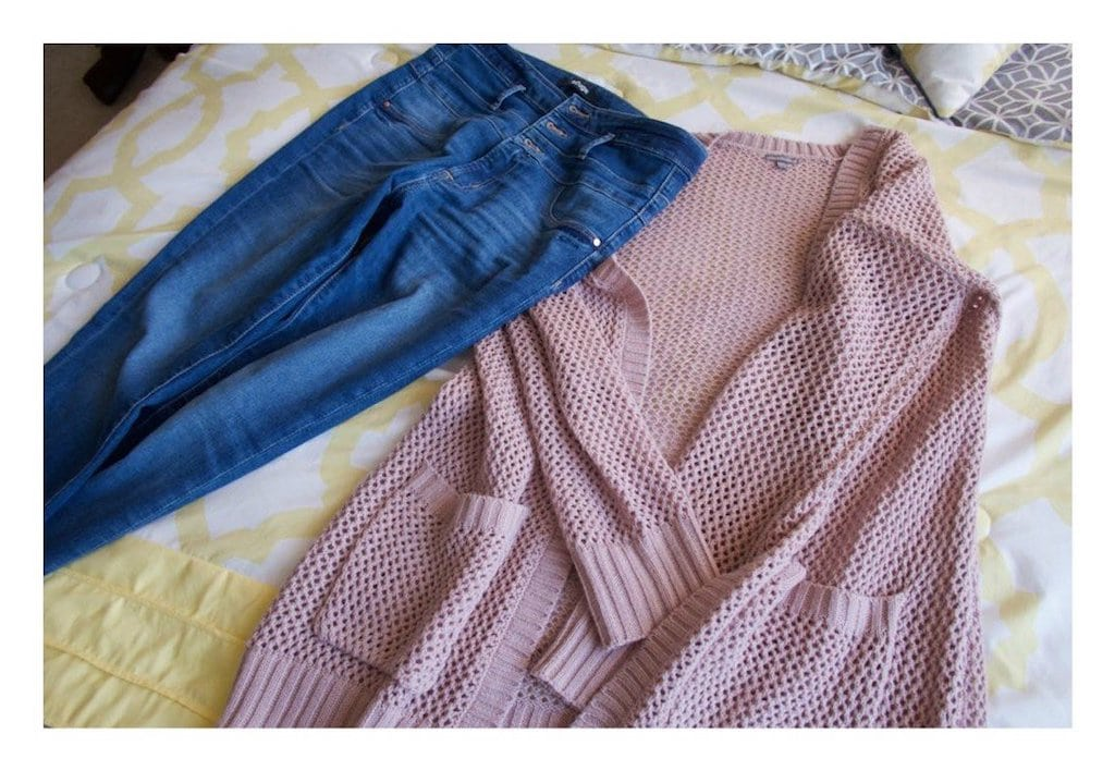 my birthday gift: jeans and cardigan