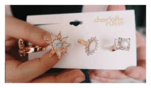 Spring 2018 cocktail rings from Charlotte Russe.