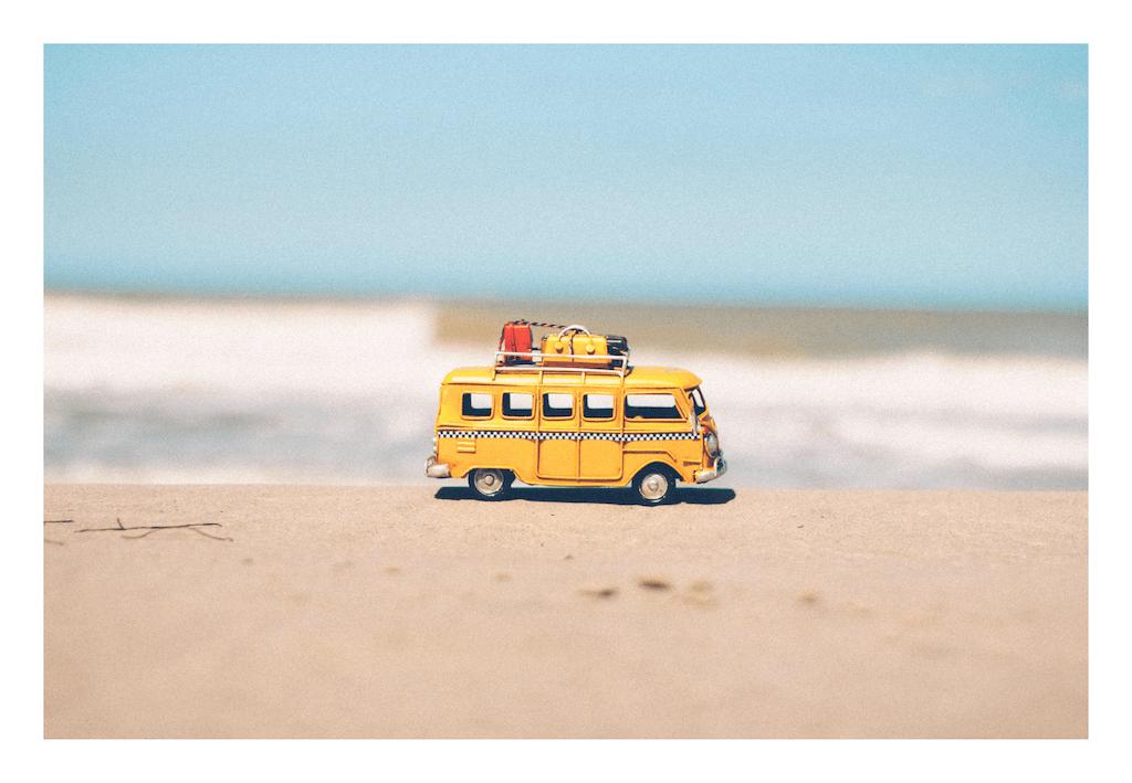 bus on the beach