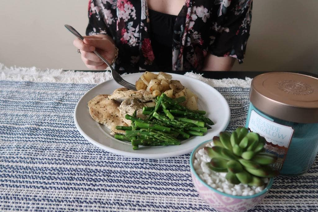 Chicken Potatoes and Asparagus