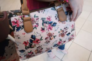 I'm wearing my floral purse.