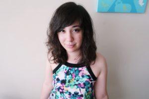 I'm wearing my floral mini summer dress.