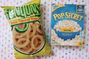 Pop Secret popcorn and Funyuns