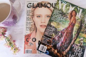 Daily Self Care Routine - Magazines and coffee
