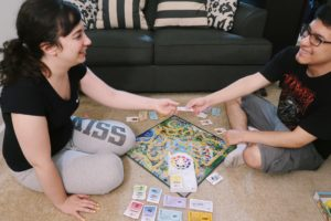 Alejandro and I playing LIFE