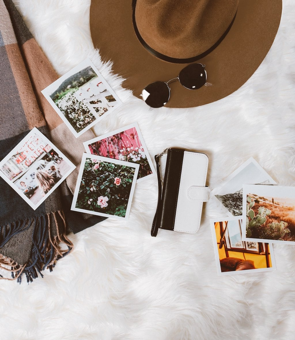 Fashion and photos flatlay