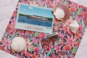 Lake Geneva postcard and keychain.