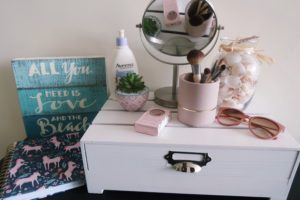 July favorites - mini makeup vanity.