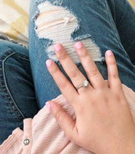 Essence pink nail polish