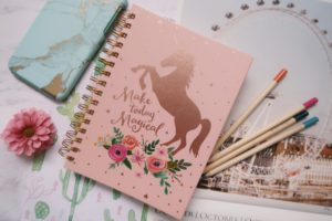 Unicorn hardcover journal from Target.