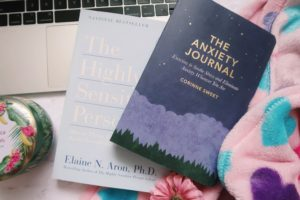 The Anxiety Journal and The Highly Sensitive Person books.