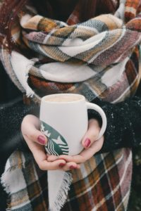 Hot coffee for a chilly fall weekend.