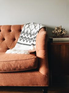 Comfortable living room couch.