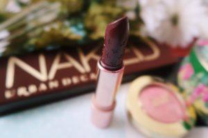 Colourpop's Crème Lux Lipstick - Hello Stanger burgundy color.