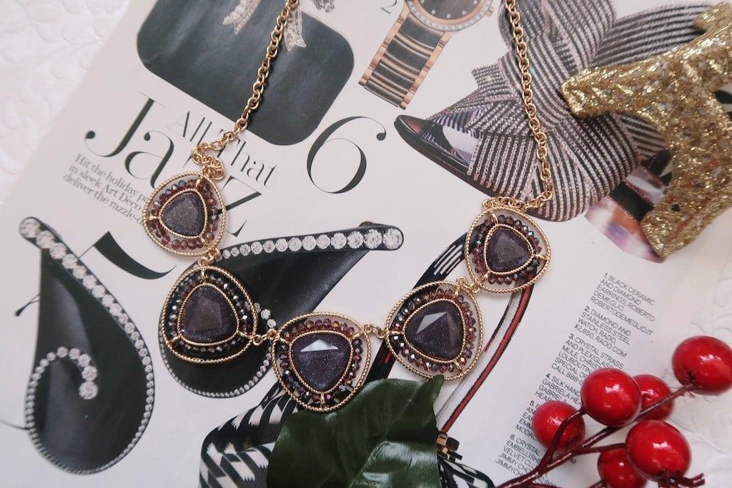 Francesca's Jewelry: Beaded Necklace Flatlay