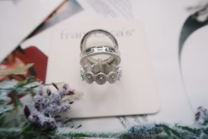 Jewelry Flat Lay: Silver ring set.