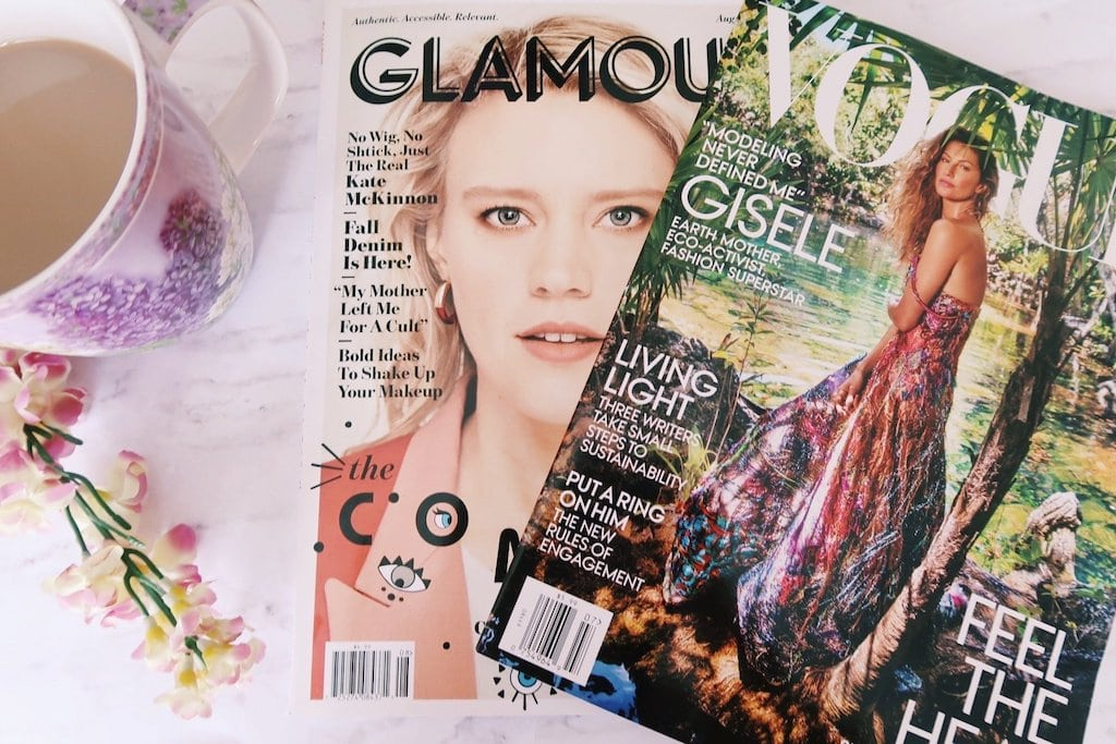 Pretty Magazines and Coffee Flatlay