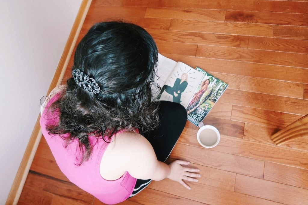 Reading Magazines and Drinking Coffee