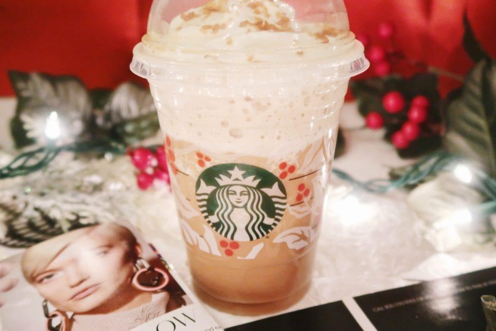 Starbucks Caramel Brulee Frappuccinno.