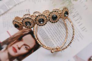 Stretch bracelet from Francesca's displayed.