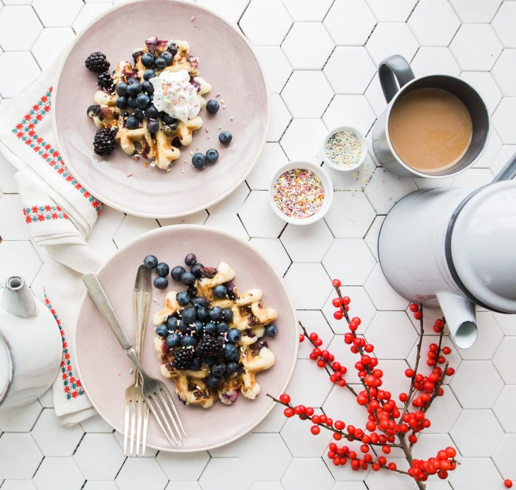 Breakfast and coffee, perfect for winter.
