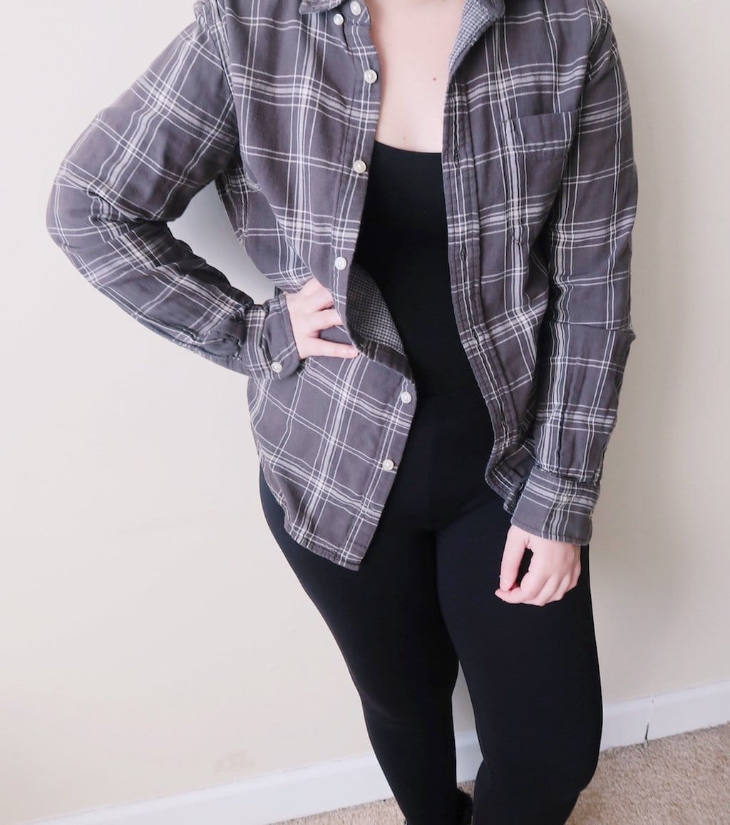 dress comfy -- flannel and leggings