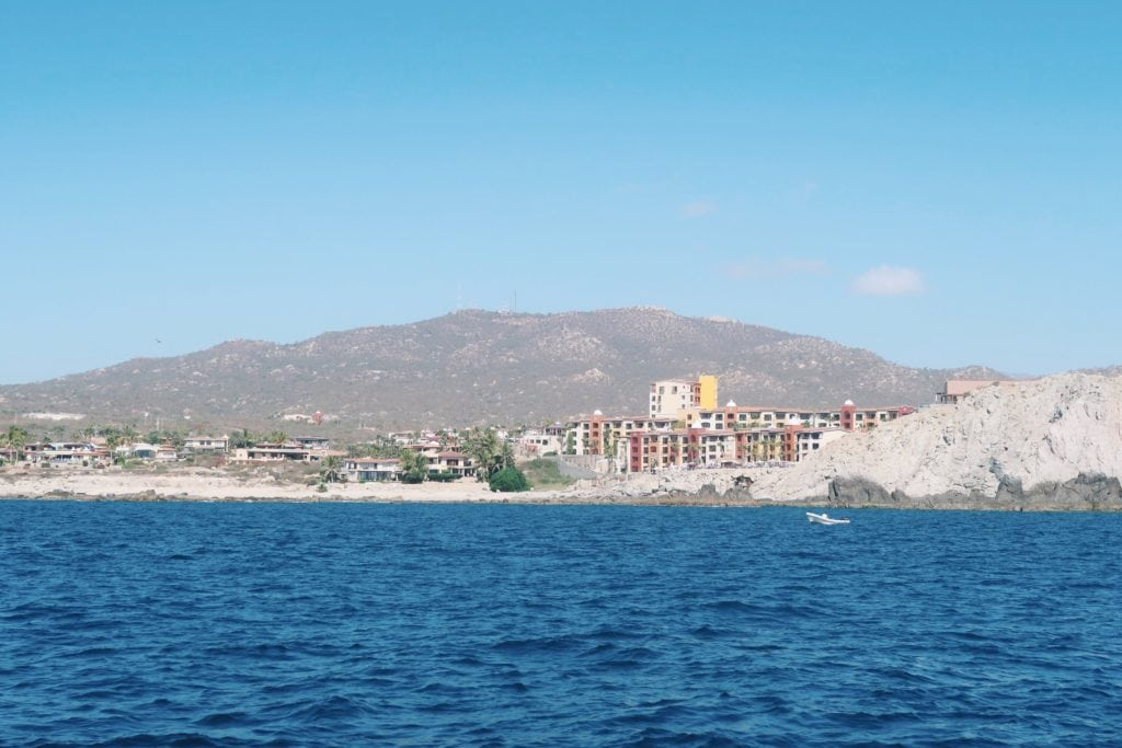 Beautiful buildings near the shore in Cabo.