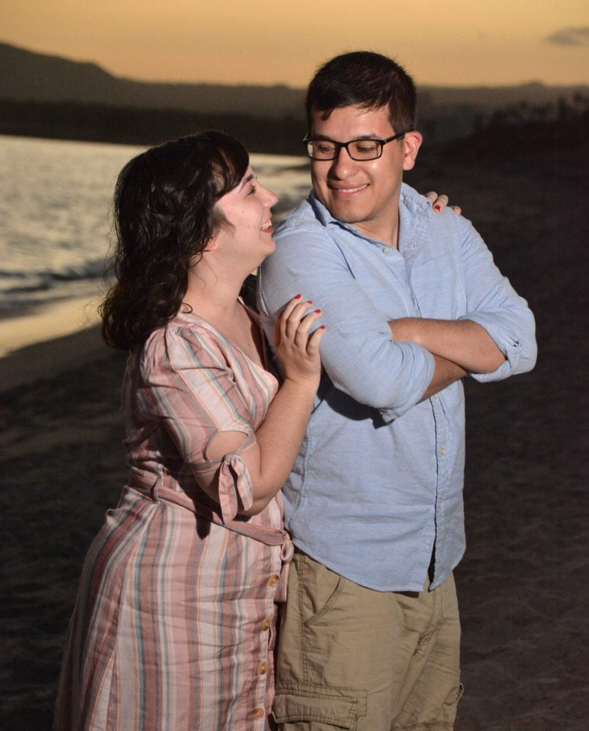Engagement photo on the beach.