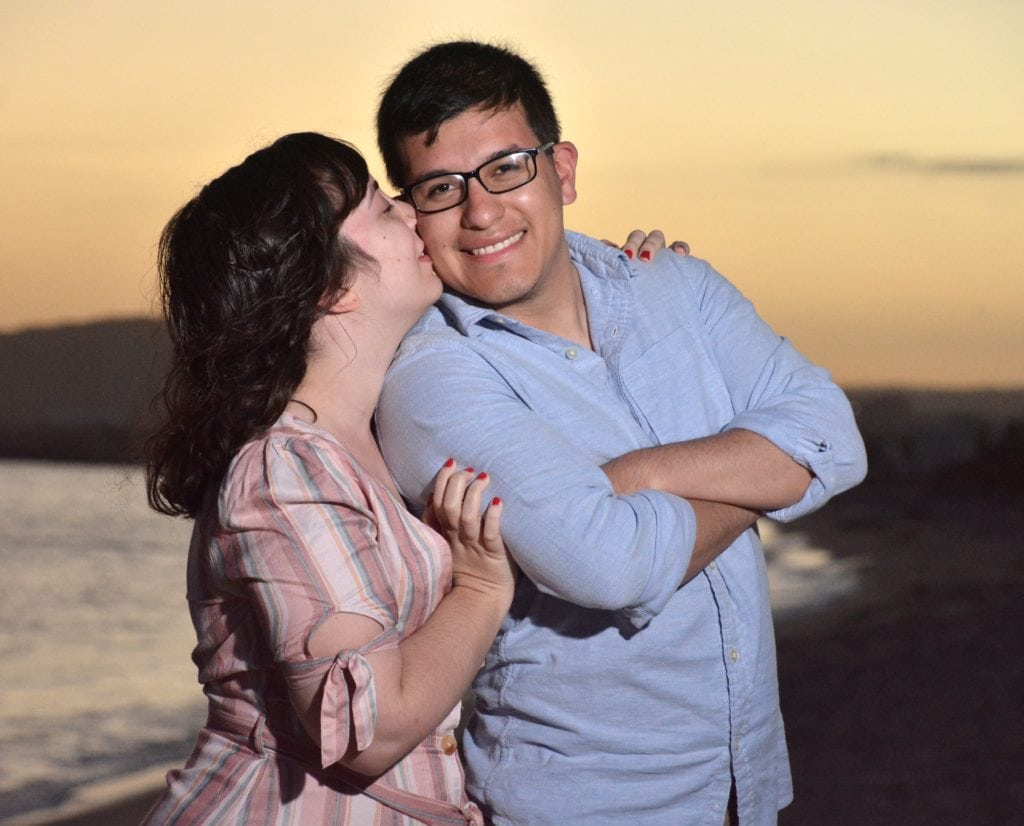 Engagement photo in Cabo.