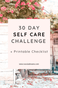30 Days of Self Care Challenge Pin