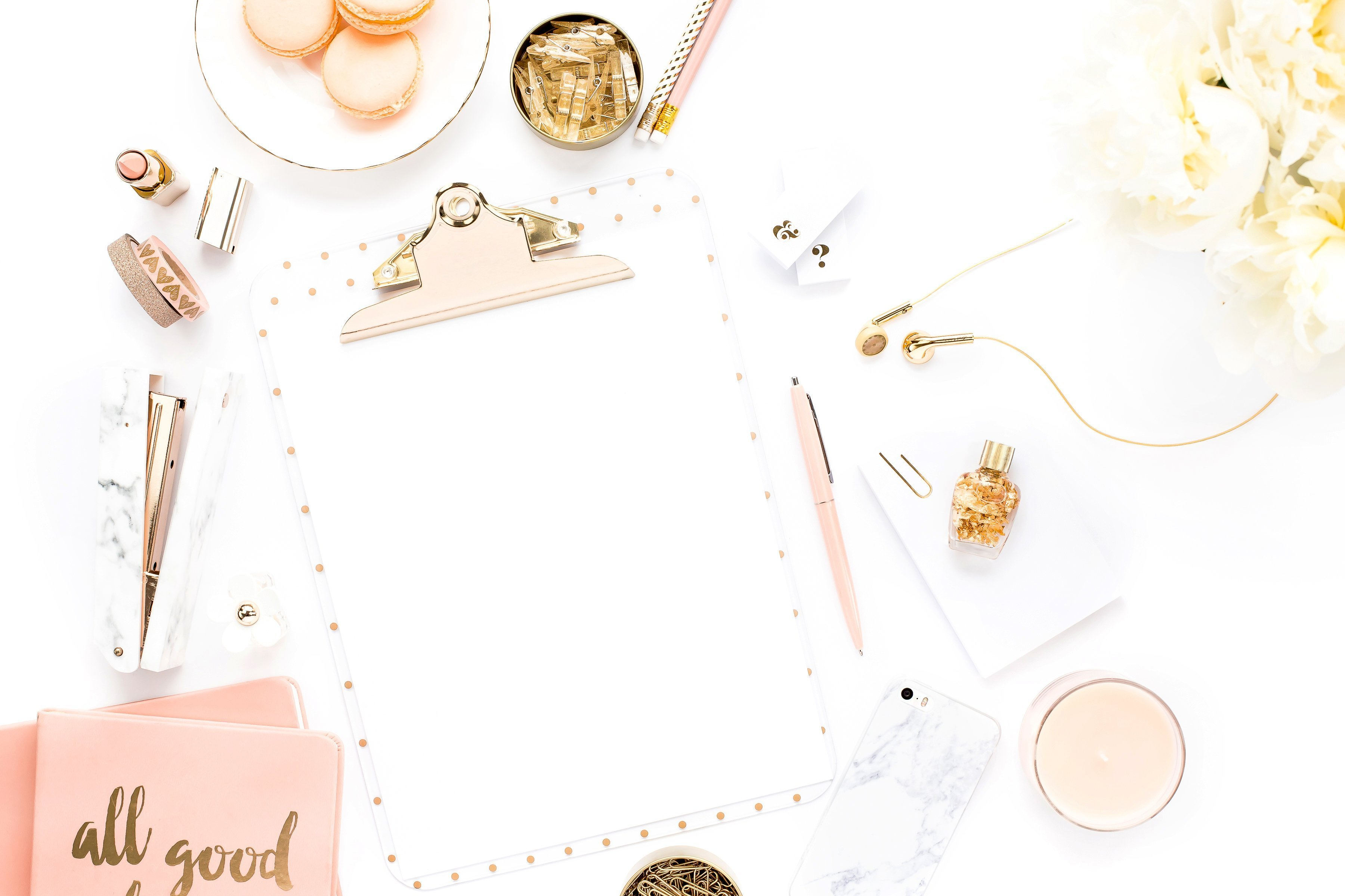 Pretty Peach Collection featuring a clipboard mockup.