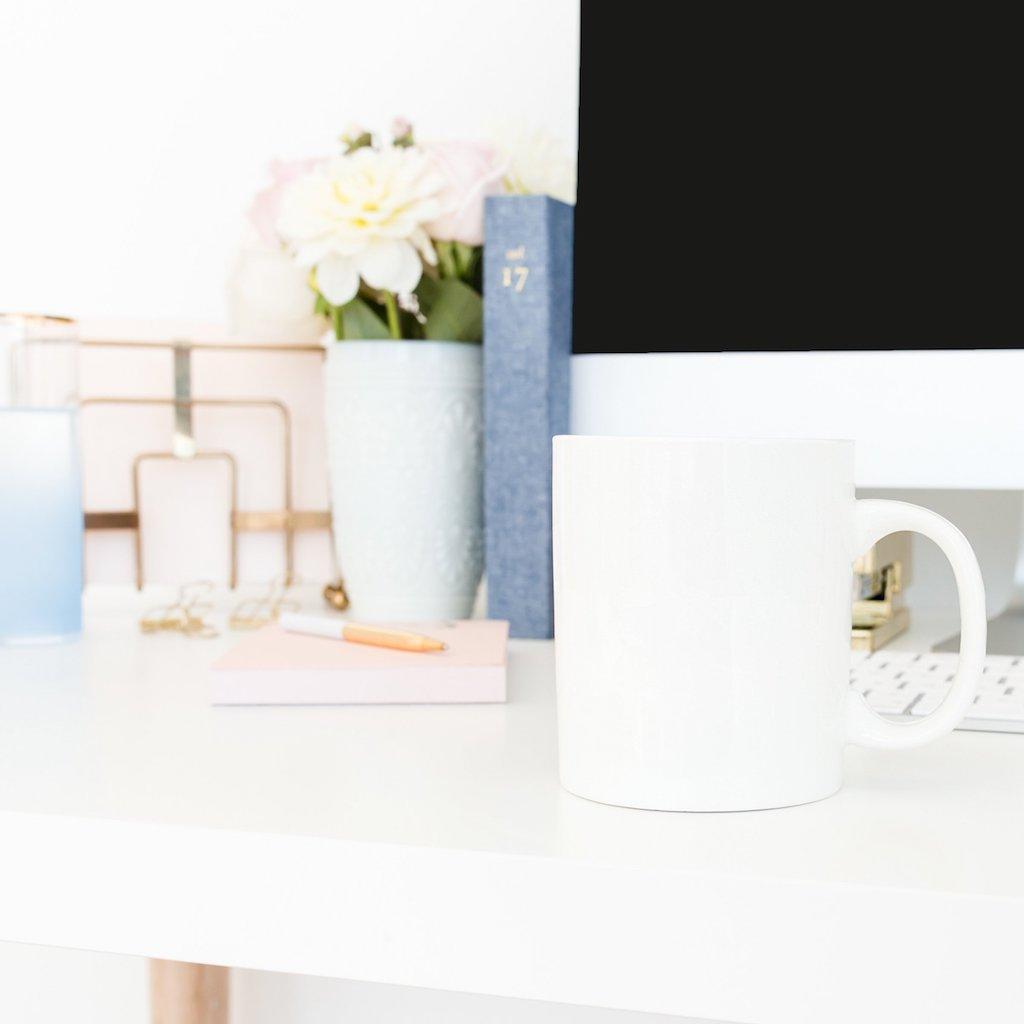 Desktop and mug