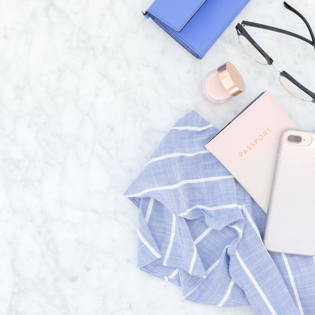 Passport makeup and phone
