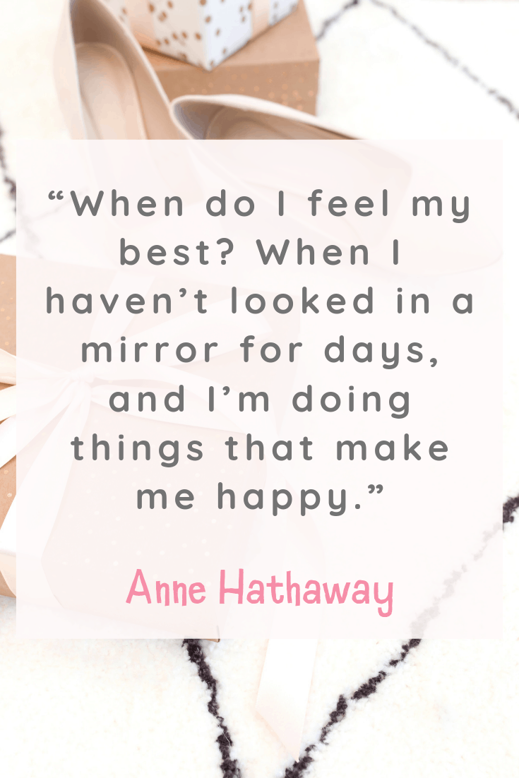 Anne Hathaway Inspirational Quotes about Happiness