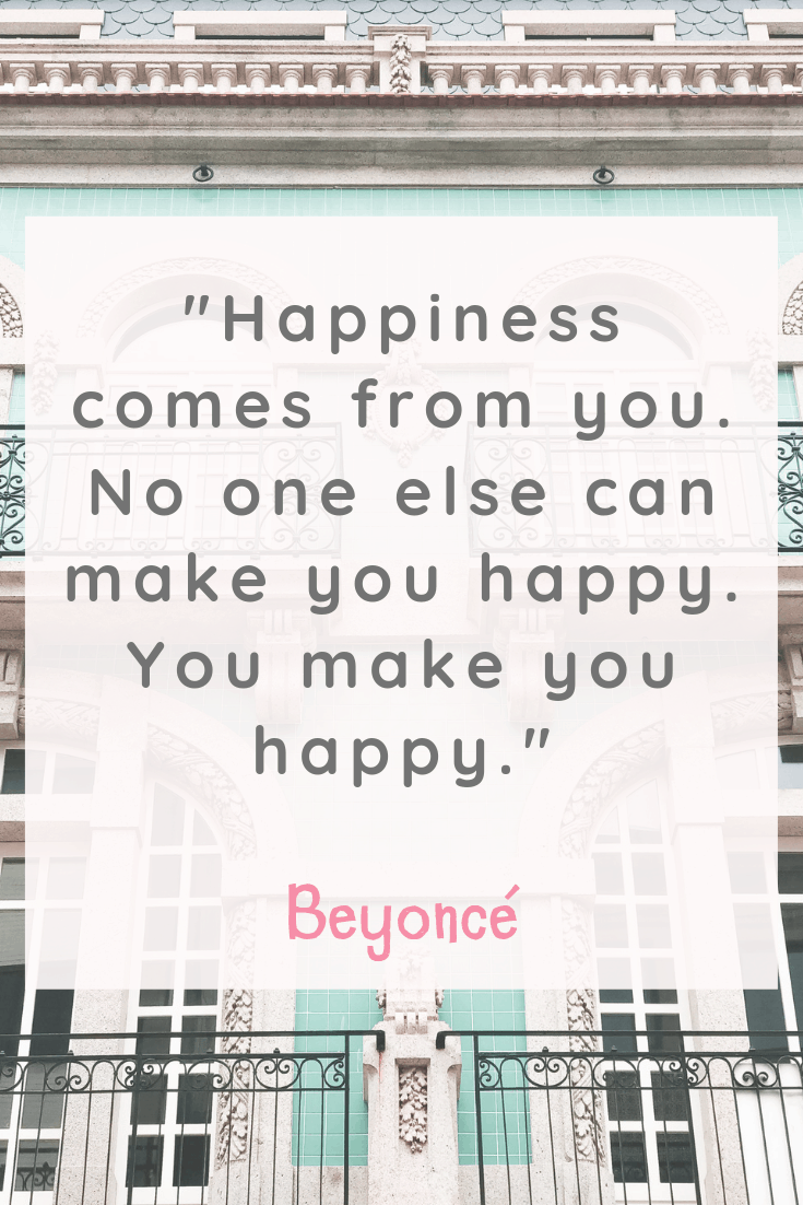 Beyoncé Happiness Quote