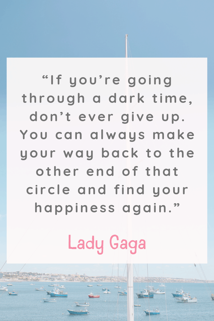 Lady Gaga Happiness Quote