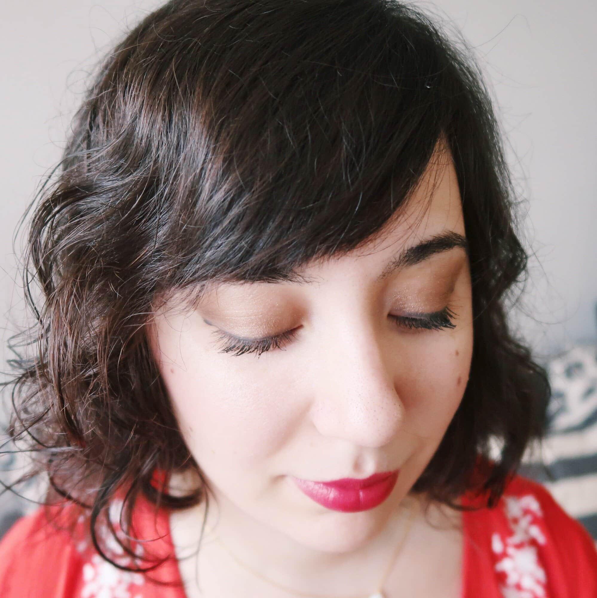 Closeup of makeup look.