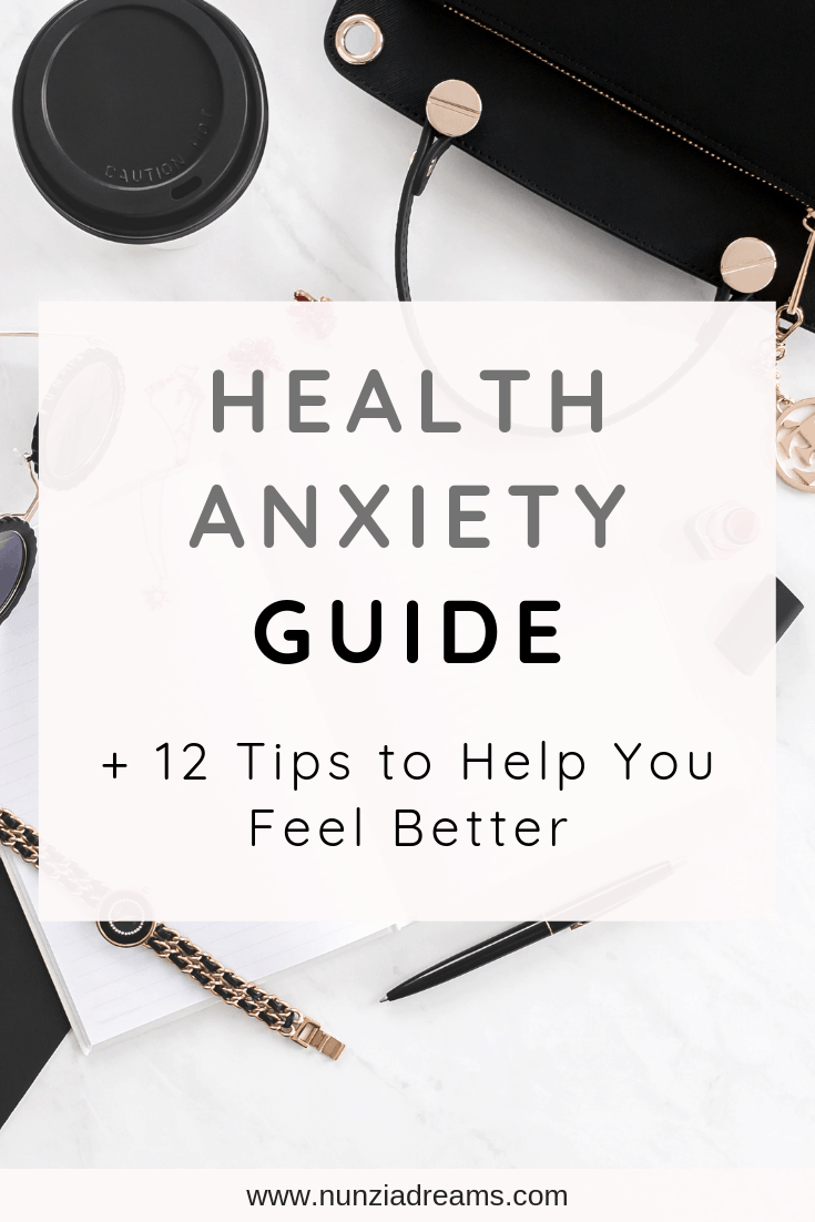 Pin -- Health Anxiety Guide + 12 Tips to Help You Feel Better