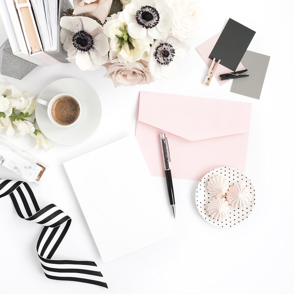 Blush and Black Styled Desktop.