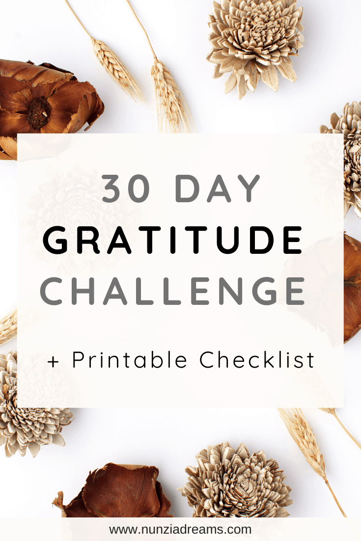 30 Days of Gratitude Challenge + Printable Checklist