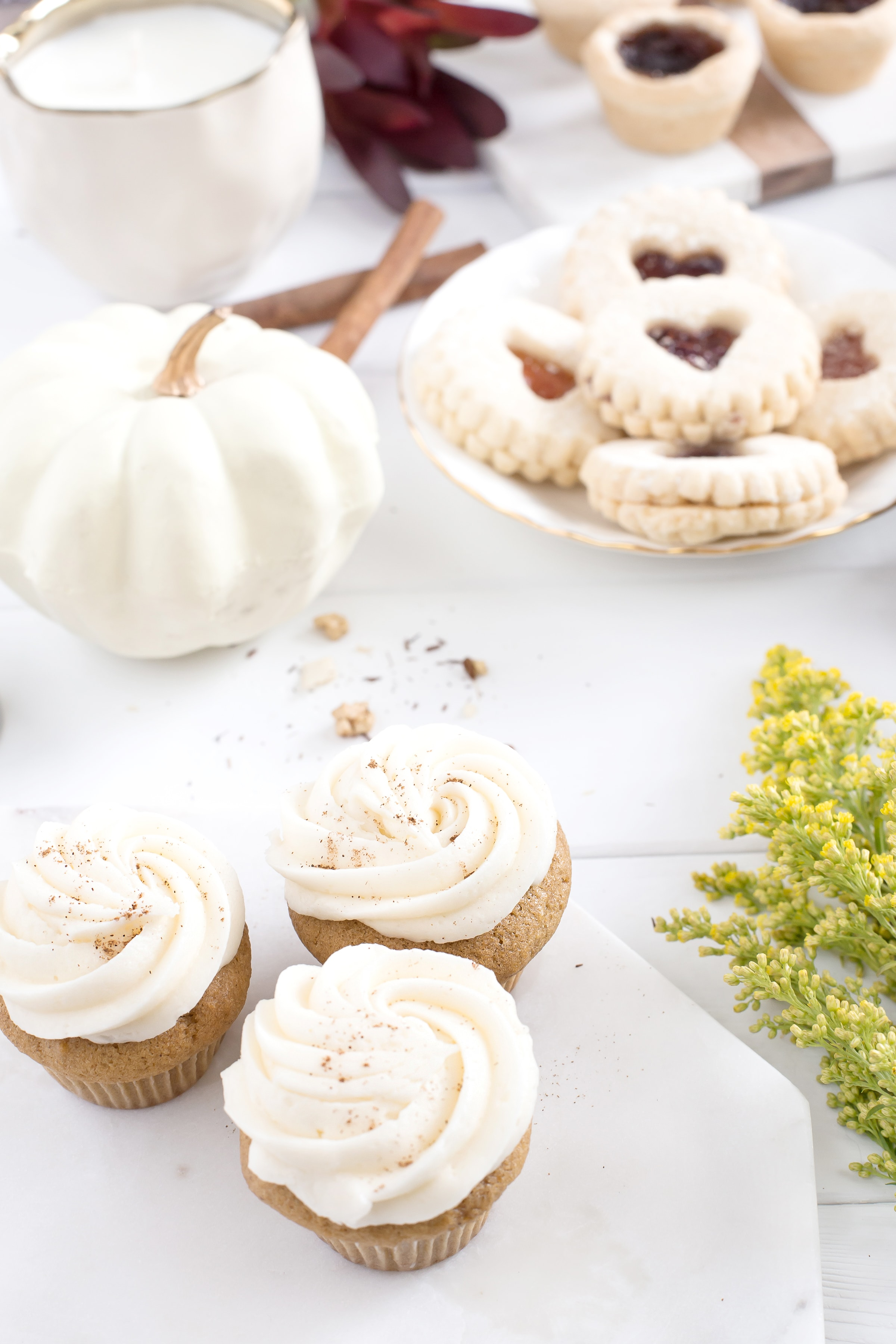Cookies cupcakes and pumpkin