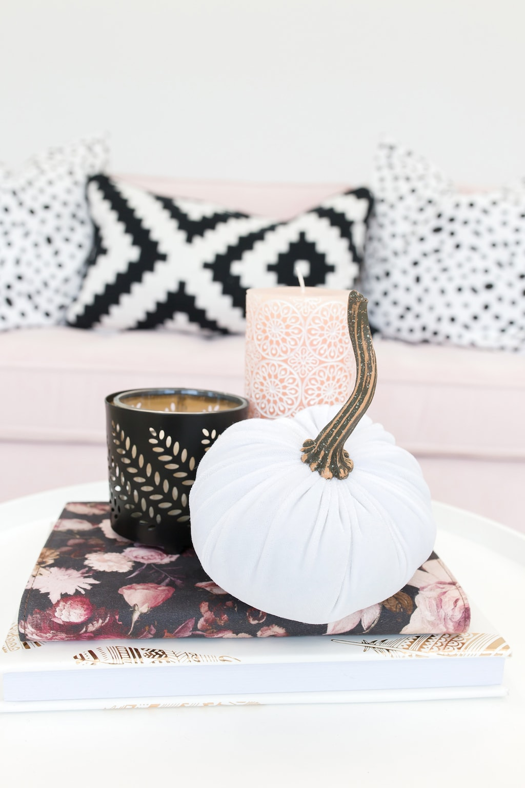 Living Room with Pumpkin