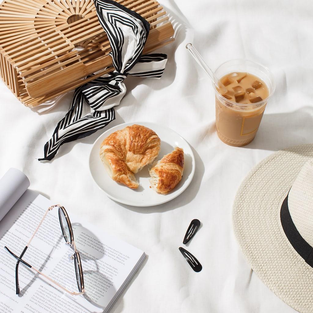 coffee and breakfast flatlay