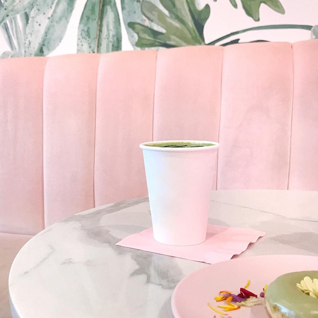 tea at a cafe