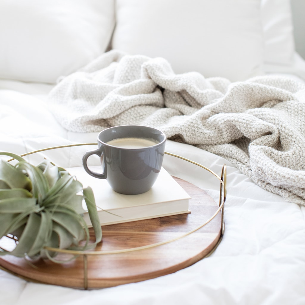 productive things to do when you're bored -- coffee and reading in bed