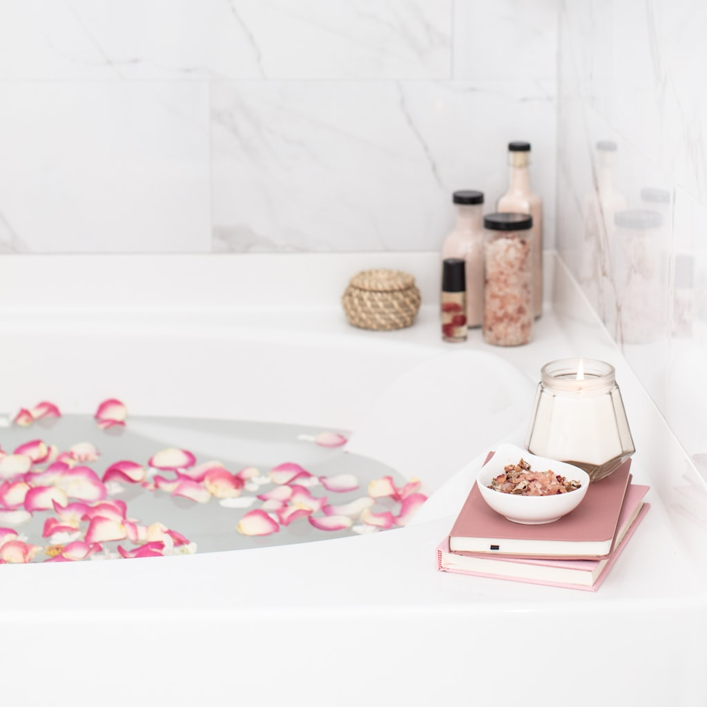 grounding techniques for anxiety -- take a soothing bubble bath