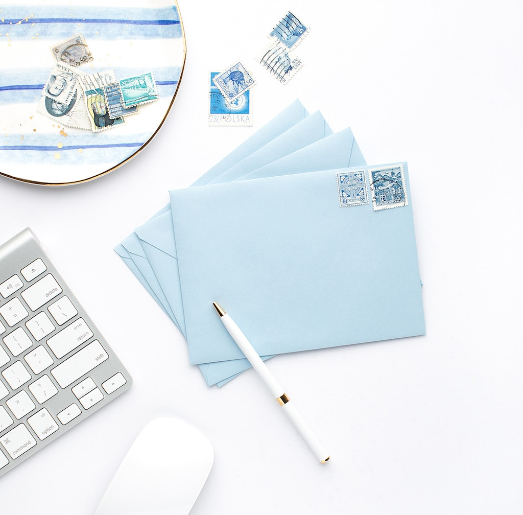 letter and stamps