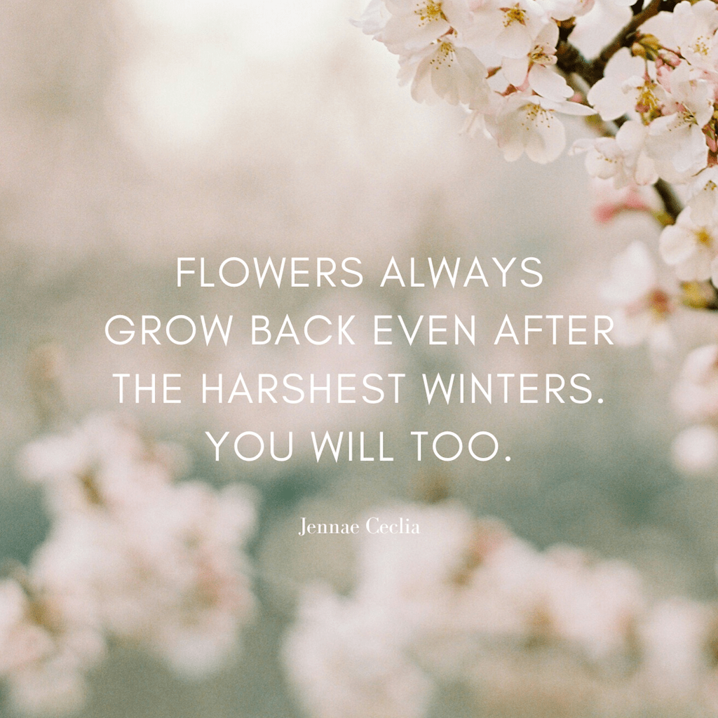 Flowers Positive Quote